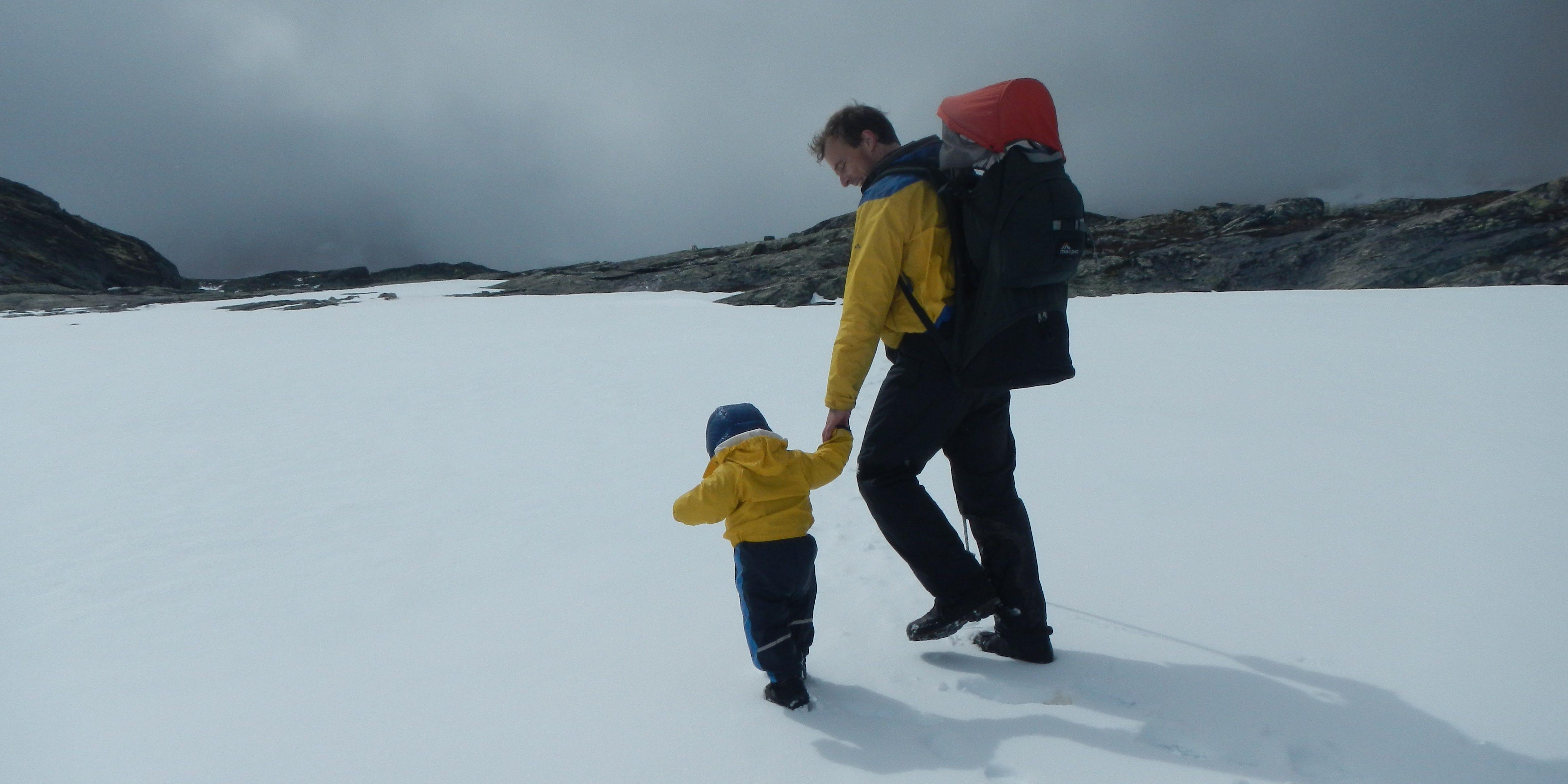 Mit Kraxe und Kind unterwegs