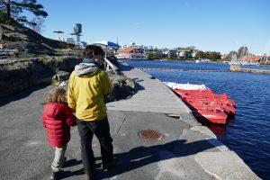 Das Museum des alten Hafens in Kristiansand, heute nicht in Betrieb