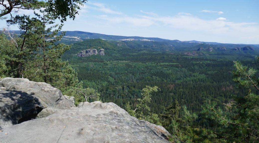 Aussicht über die Sächsische Schweiz