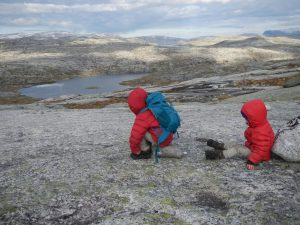 Children playing in the wide nature of Norway