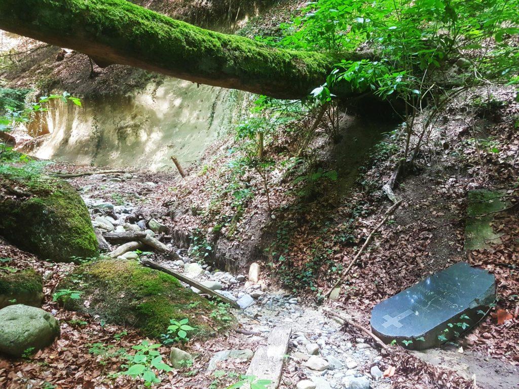 Kein Wasser, dafür ist hier jemand begraben?