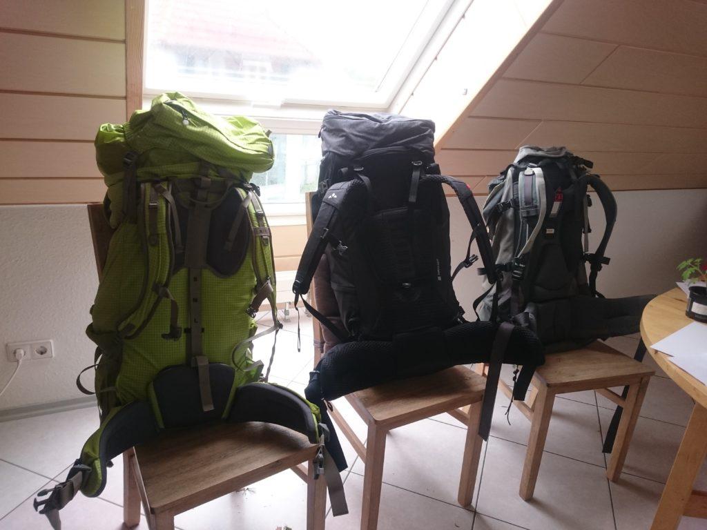 Rucksack, Tests im Vergleich