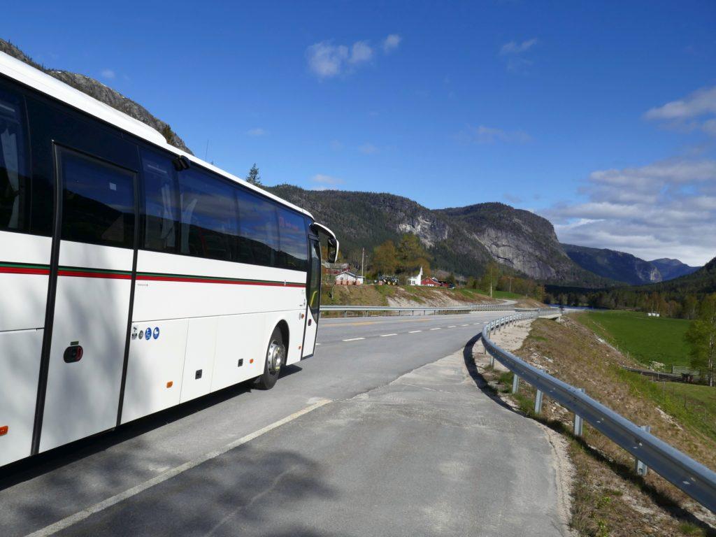 Bus fahren in Norwegen