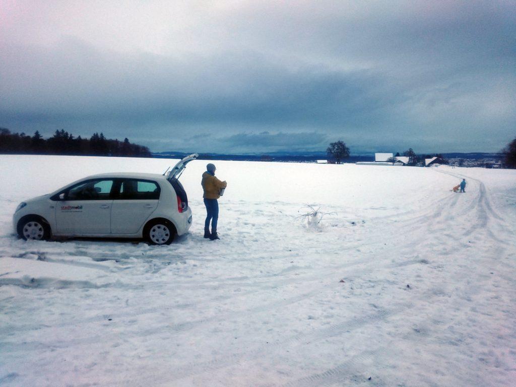 Kleinwagen im Wintereinsatz