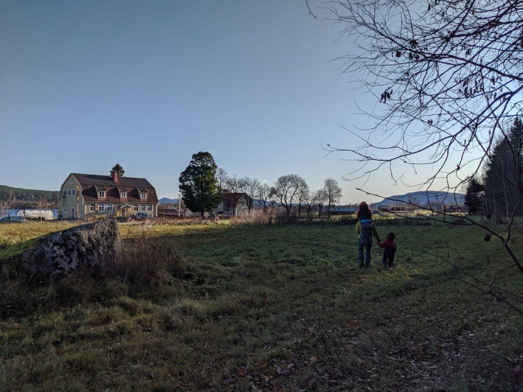 Kleines Dorf in Schweden