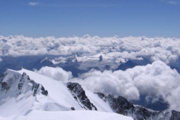 Montblanc, Aussicht vom Gipfel