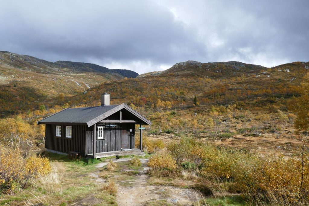 Einsame Hütte in Norwegen
