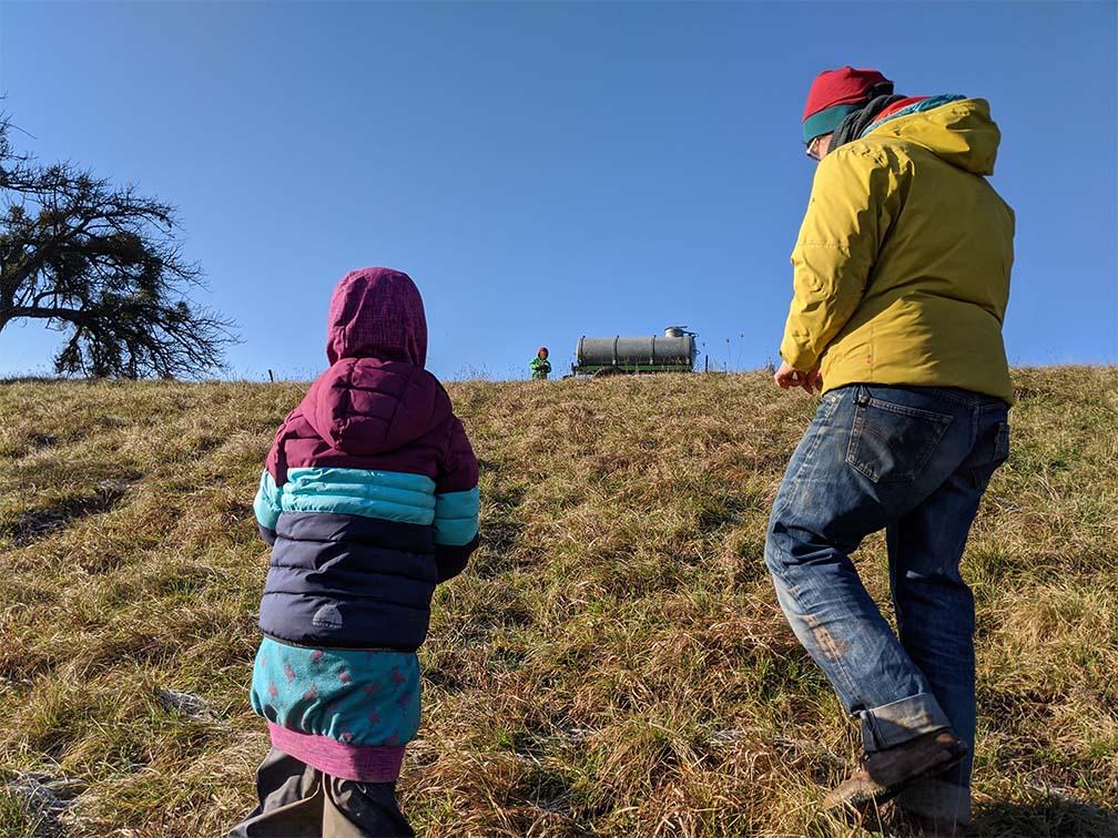 Auf dem Weg auf den Hügel