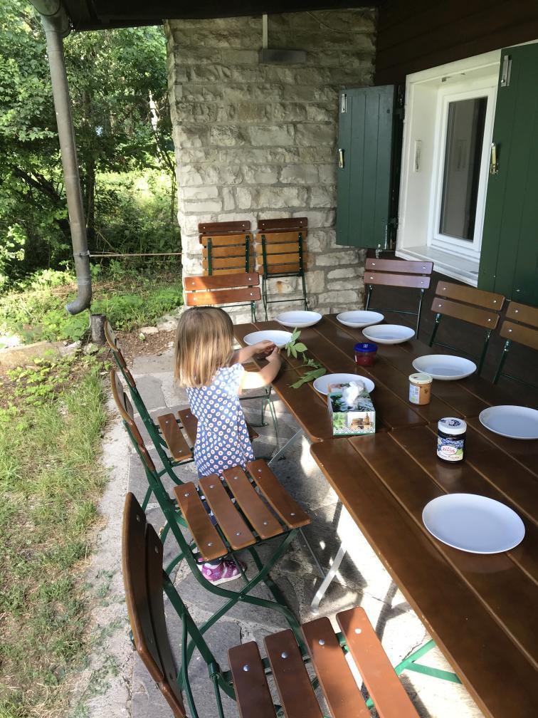 Frühstück im Grünen